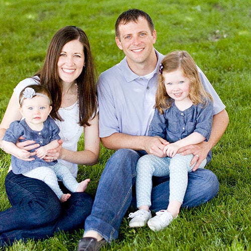 Photo of Dr. Justin Cromwell, a dentist in Marysville OH, and his family