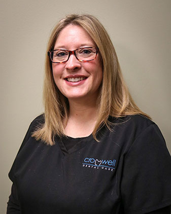 Ashley who is a dental assistant at Cromwell Dental Care