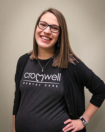 Sarah who is the office coordinator at Cromwell Dental Care